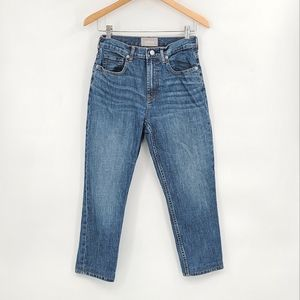 Everlane High Waisted Straight Ankle Length Jeans